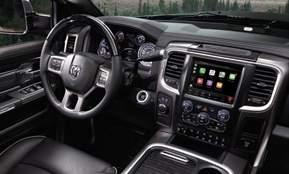 The Ram Heavy Duty Limited interior: with its all-black