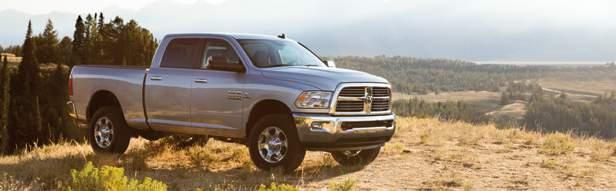 Ram Heavy Duty Big Horn stands tall with its sharp chrome billet grille, fog lamps and 18-inch