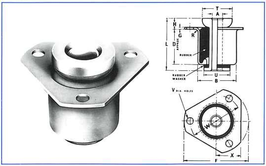 Low Deflection Medium Duty Flange mountings are designed for recessed fitting into machine frames and engine bearers to reduce installed height.