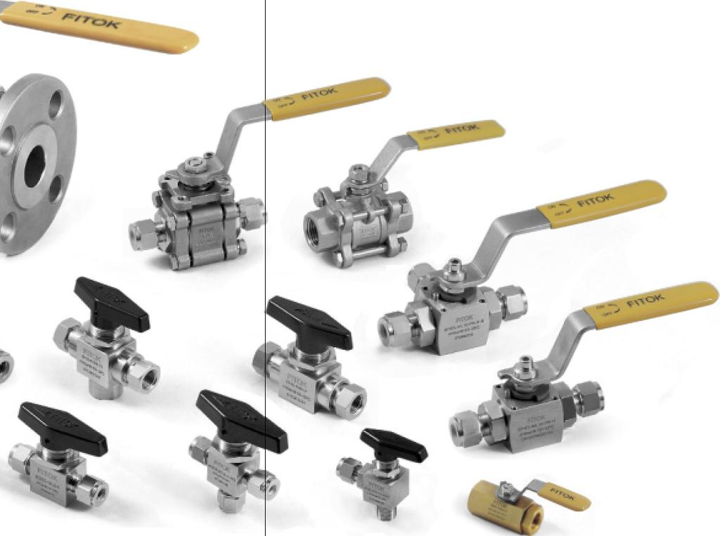 Smth and lw perating trques Traceable materials Variety f handle clrs Bi-directinal flw fr 2-way valves All designs are tested fr strength with pure water at 1.5 times the wrking pressure.