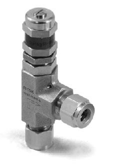 28 29 Valves / Bleed, Check, Purge, and Relief Relief Valves RV Set pressures: 50 t 000 psig @ 70 F (0.34 t 41.
