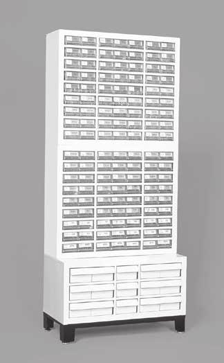 Related Products abinets & Assortments Stock abinet Weatherhead Part # F-16X Aeroquip Part # FT1600 ontains 16 clear plastic drawers that can be divided into two or three sections.