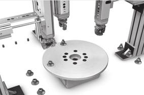 Key features Application examples Basic rotary table Handling with minimum space requirement Rotary table with rotary distributor For the transfer