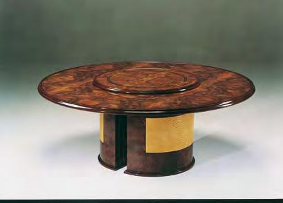 chairs with arms mod. Rodeo Ostrich round table cm. 180 diam.