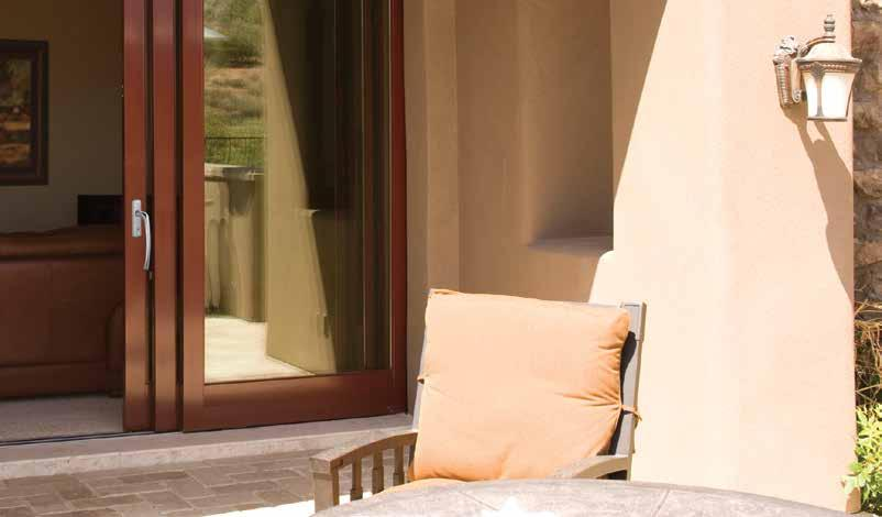LIFT-&-SLIDE PATIO DOORS Hardware Options Operate these magnificent doors by turning the lever handle 180