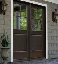 Mid-rail sizes are 3 3/4, 4 3/4 and 6 3/4 and may be used together on the same panel. Three bottom rail choices add versatility to swing patio door panels.