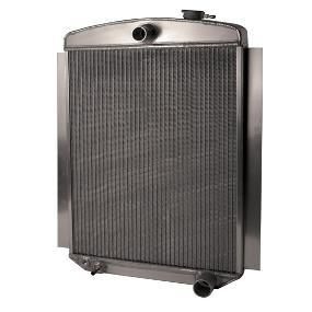 A cross-flow radiator is a radiator in which the fluid tanks are located on the sides of the radiator core; the coolant flows across the core of the radiator from tank to tank.