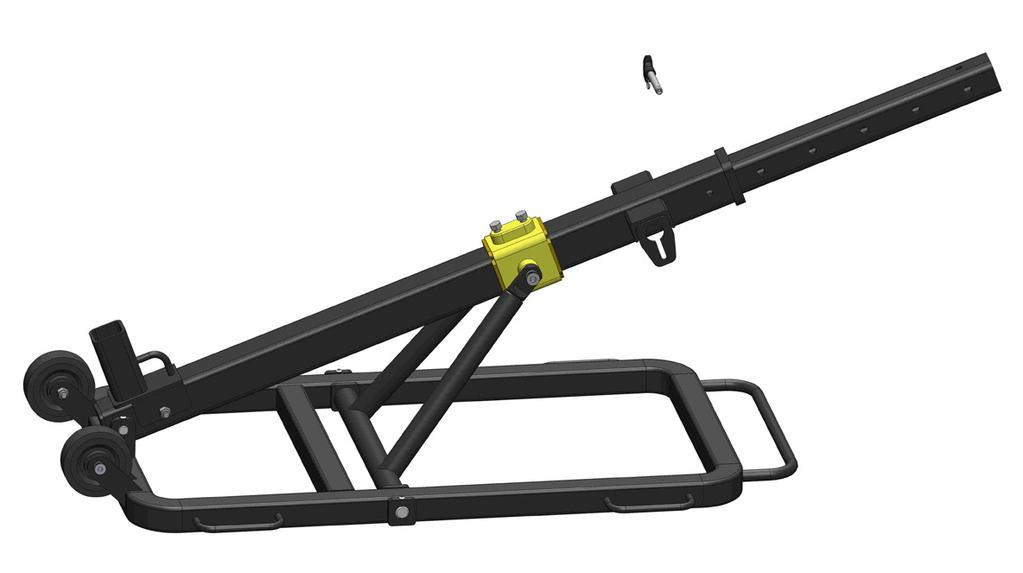 Install the Pivot Lock Assembly into the Inner Boom. Secure the Pivot Lock Assembly with the Quick Release Pin.