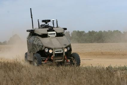 228 KERVEROS I: An UGV for Remote-Controlled Surveillance military installations. The UGV should be able to move outdoors, in normal roads with small bumps, offering sufficient range and autonomy.