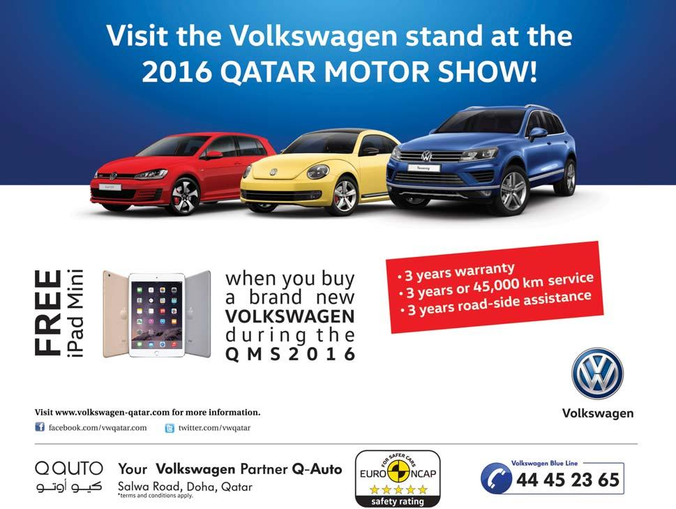 Volkswagen Qatar gears up for regional debut of smart SUV for the urban jungle New Tiguan Middle East debut at Qatar Motor Show 2016 Innovative technological features,