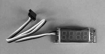 Many of the DLE Ignition modules have an additional lead to plug into the optional tachometer. If your ignition module does not have this additional lead, the digital tachometer can still be used.