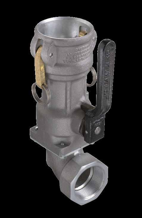 KAMVALOK SERIES 1700 ES Series Couplers OPW Transport Series Dry Disconnect Couplings are used on multi-compartment petroleum, solvent and chemical product delivery trucks with an on-board pumping