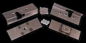 95 1-1/2 3-11/16 Single Rtr Latch Munting Plate Kit Fits Abve SRS 100 Latches This kit makes installing latches a lt easier an faster.