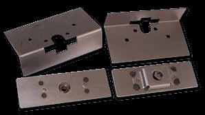 Latch munting plate features recesse blt hea areas an inclues stainless harware. Striker blt munting plate has a flating nut s u can ajust the striker after installatin.