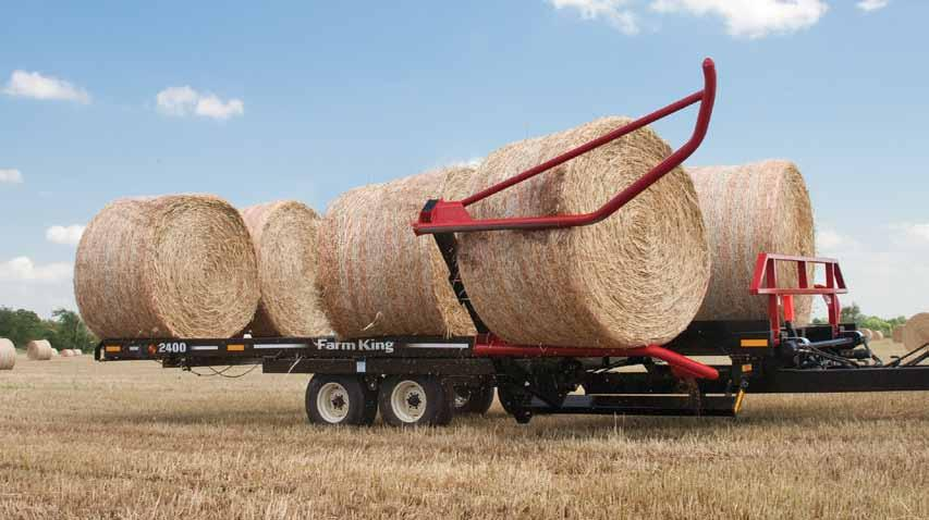 4 Round Bale Carrier Standard Arm The 1450s, 2400s and the 2450s feature standard pickup arms.