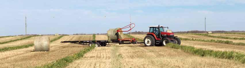 Round Bale Carrier 5 Approach Pick Lift Roll Raise Unload SpecificationS Model >> 1450 2400 2450 Capacity Tractor requirements GVW: 18,720 lb (8,491 kg) Eight - 4' (1.2 m) wide bales Seven - 5' (1.