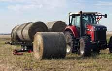 5 m) wide bales 80 hp (60 kw) at 12,480 lb (5,660 kg) Maximum recommended speed when loaded is 20 mph (32 km/hr) GVW: 37,440 lb (16,983 kg) Sixteen - 4' (1.2 m) wide bales Fourteen - 5' (1.