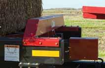 6 square Bale Carrier Product overview stacks bales in uniform tight rows simple operation 100 hp required Features in cab control for complete manual and automatic operation Hand held remote control