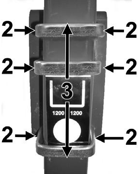 1. Ensure the machine is securely chocked and the dispenser is well supported 2. Loosen the 6 x M16 nyloc nuts on the U-bolts, but do not remove! 3. Slide the dispenser up or down, as required 4.