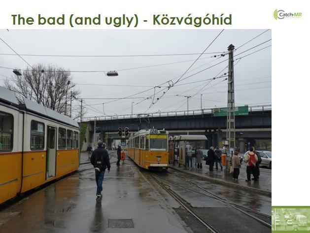 Regional bus and (HÉV); MÁV trains have no stop, long walking local bus integrated, railway and metro