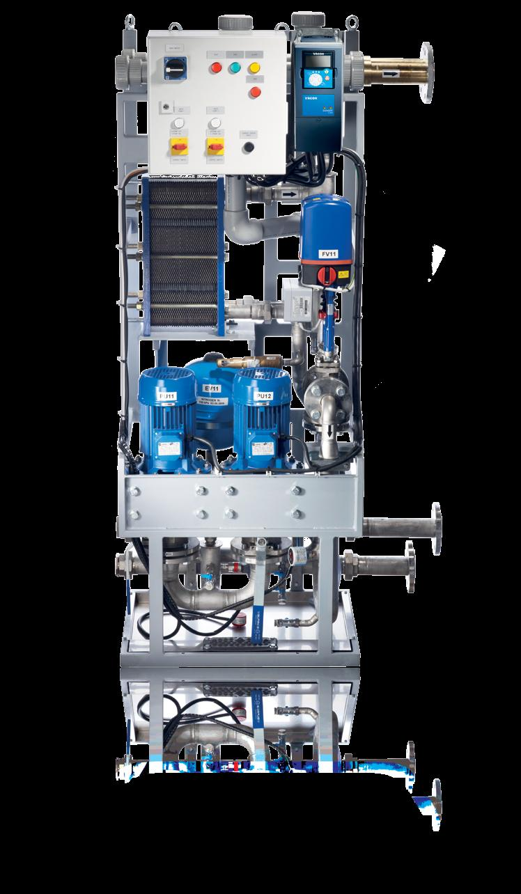 liquid to liquid heat exchangers In cooperation with HVAC professionals, Vacon has designed a range of cooling units based on liquid-to-liquid heat exchangers (HX), which improve the availability and