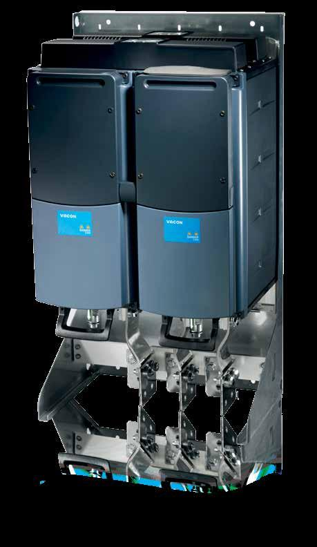 Liquid cooled AC drives installed in high IP class enclosures can be used in demanding