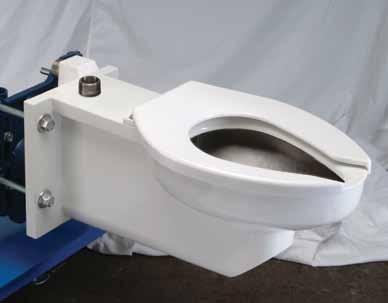 Z5681 Extra-Heavy-Duty Elongated Wall Hung Flush Valve Toilet Series Z5681 Series Load tested to withstand 1,000 lbs. heavy-duty load rating when tested in accordance with ASME/ANSI A112.19.