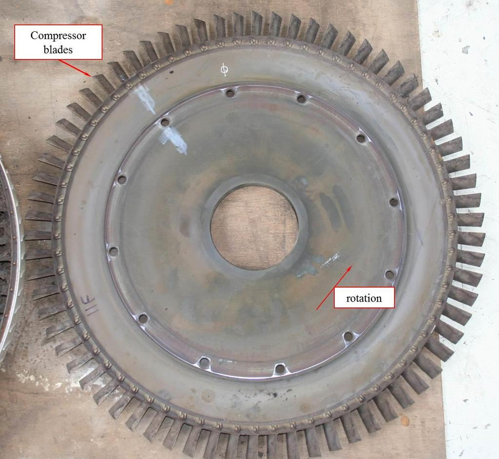Figure 13: Typical compressor rotor