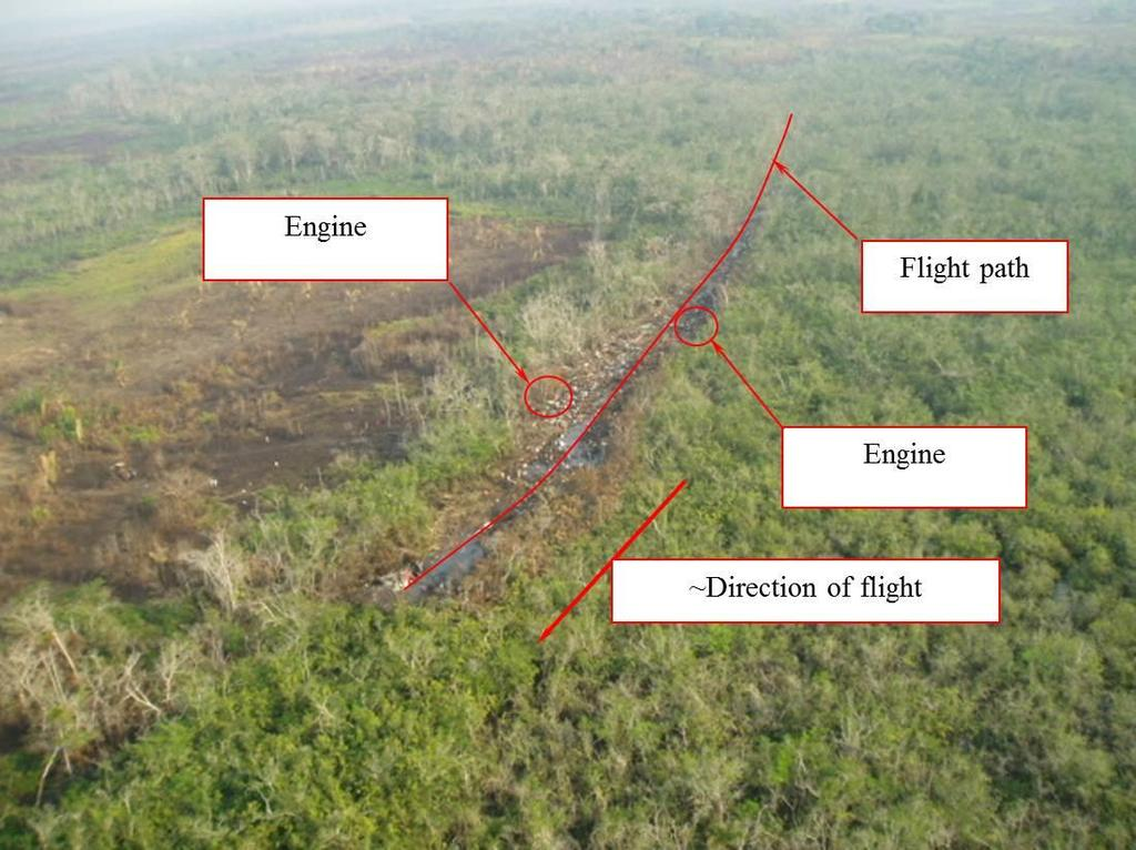 Figure 1: Aerial view of accident site depicting a