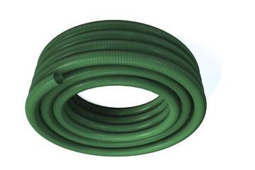 Page 11 PVC SUCTION & DELIVERY HOSE EASY HANDLING, LIGHT & FLEXIBLE GREEN PVC BODY REINFORCED WITH WHITE RIGID PVC HELIX SMOOTH BORE FOR INCREASED PERFORMANCE IDEAL FOR CESSPIT & GULLY EMPTYING &