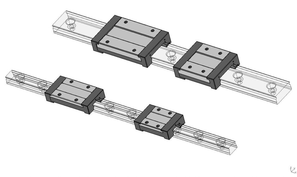 Product features Maximum utilisation of mounting space The compact design of the SKF miniature profile rail guides permits maximum performance on a minimum of mounting space.
