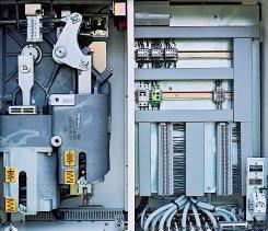 The switching device control systems are factory-tested and the switchgear is usually supplied with bay-internal cabling all the way to the neutral bay interface.