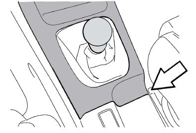 Removal of Factory Shift Lever 1. Remove the shift knob by unscrewing it counter-clockwise.
