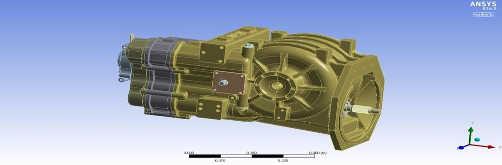 7. Modelling of Gearbox Assembly Multi speed transmission (4 speed, excluding reverse gear) has been investigated here.