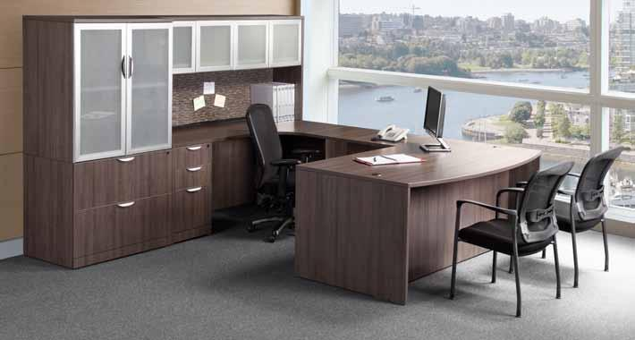 please call for availability. Espresso Modern Walnut Edge Detail Hutch Options Handle Options Black - standard on Cherry, Mahogany, Maple and Honey.