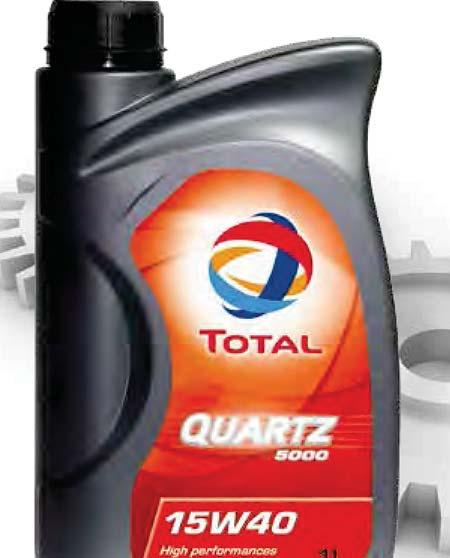 TOTAL QUARTZ 5000 15W-40 is suitable for turbocharged engine systems and can be used for city, road or motorway driving in all seasons.