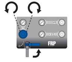 Turn the main air supply pressure regulator fully counter-clockwise to relieve pressure and set to zero pressure. See FIG. 17. 7. Turn the main air supply ball valve to the open position. See FIG. 17. 8.