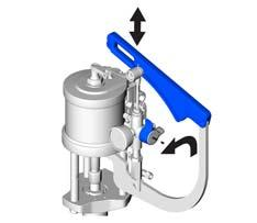 Operation Spray 4. Turn the resin pump pressure relief/recirculation valve to the dispense position.