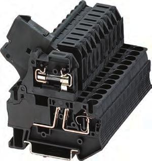 8WH2 Spring-Loaded Terminals Overview Technical specifications 8WH fuse terminals Fuse terminals for blade-type fuses The fuse terminals for blade-type fuses accommodate bladetype fuses according to
