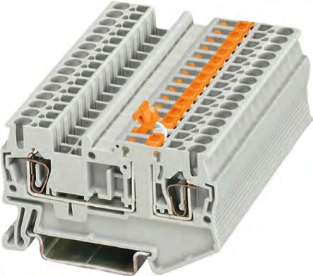 In addition the terminals provide a test tap parallel to the isolation point for 2.3 mm test plugs. Potential distributors can be conveniently assembled using connecting combs.