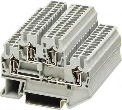 8WH2 Spring-Loaded Terminals Overview Technical specifications 8WH two-tier terminals Standard two-tier terminals With the two voltage levels routed through two separate tiers, the two-tier terminals