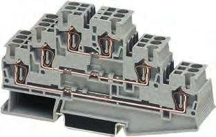 8WH2 Spring-Loaded Terminals Overview 8WH three-tier terminals Our three-tier terminals offer three feed-through levels in a slim 5.2 mm terminal enclosure.