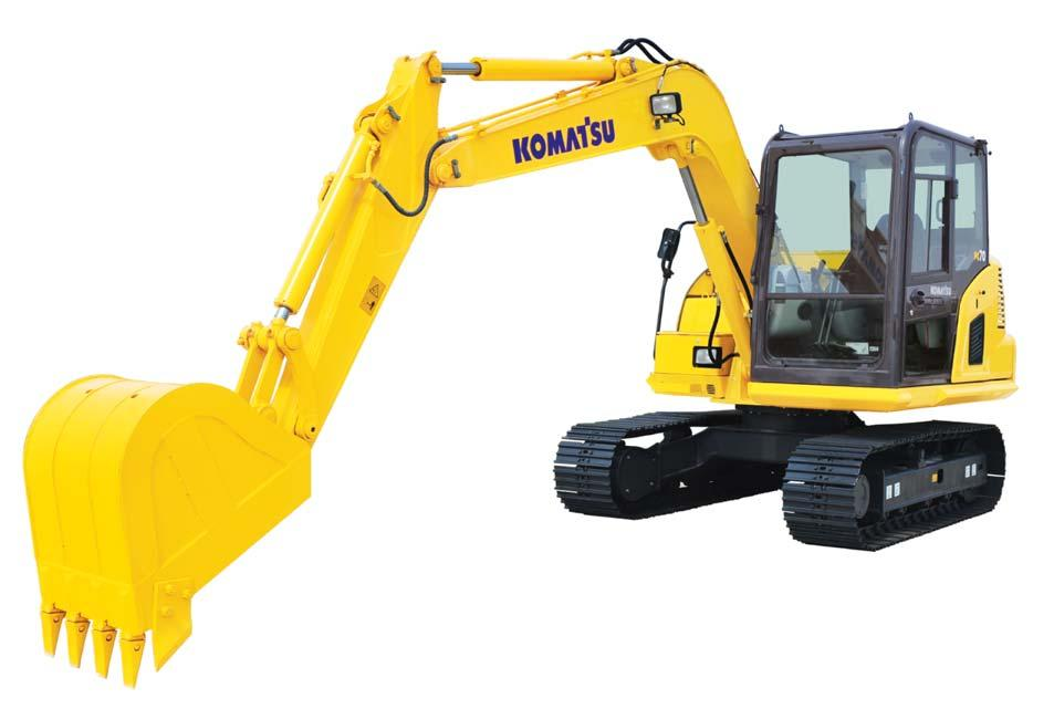 COMPACT HYDRAULIC EXCAVATOR PC70-8 HEAVY-DUTY SPECIFICATION Operating weight.