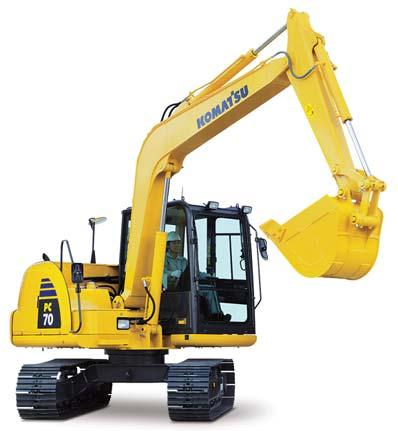 COMPACT HYDRAULIC EXCAVATOR PC70-8 Low Emission Engine The newly-developed Komatsu engine enables NOx emissions to be significantly