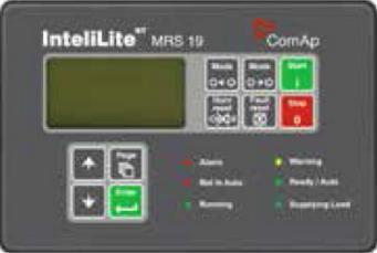 CONTROLLER INFORMATION ComAp InteliLite controller is an integrated controller for gen-sets operating in manual or remote start mode.