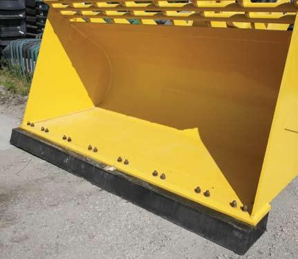Rubber edges are available with 3 of rubber for skid steers, 4, 5, 9 &
