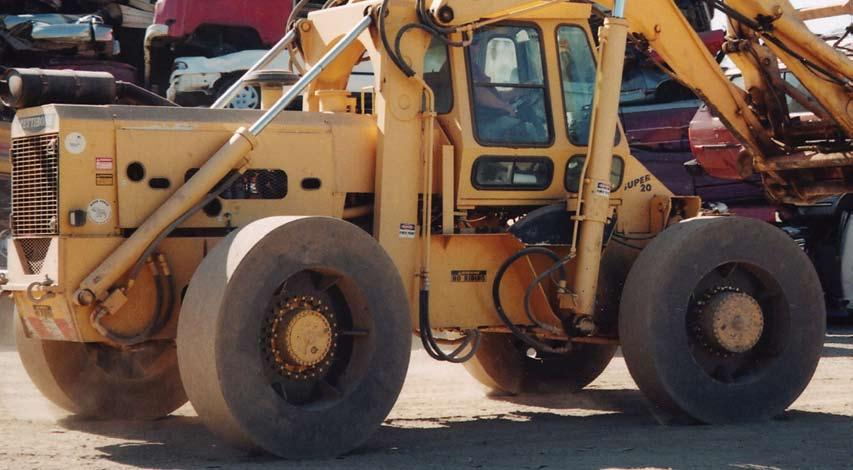 Backhoe/Forklift Tires SETCO manufactures a super single forklift tire that takes the place of