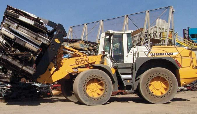 Ideal for scrap yards, recycling