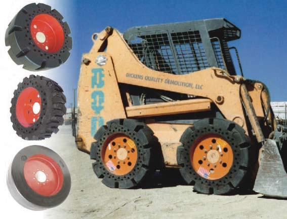 SETCO manufactures the softest flat proof skid steer tires in the industry, with more pushing