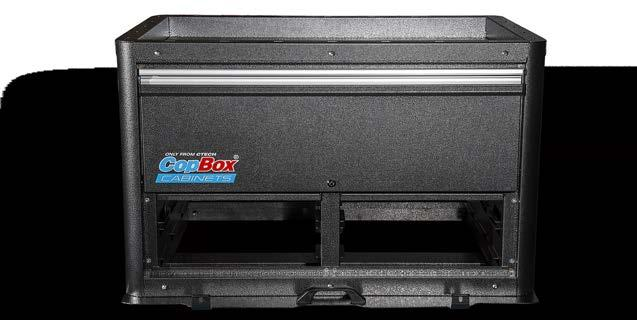 Lightweight construction, easily removed if spare tire is needed 20 tall gives more storage, great mid sized CopBox Inverted Top offers quick access to gear Locking Flip Lid is perfect for gun